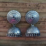 THE FLORAL SILVER JHUMKA - SILBERUH