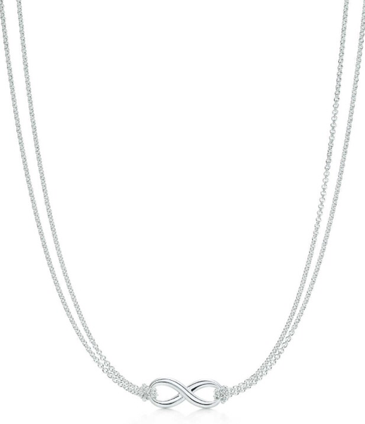 "INFINITY SILVER 18"" NECKLACE - SILBERUH"