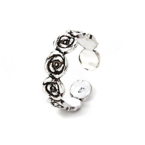 ROSE SILVER ADJUSTABLE TOE RING - SILBERUH