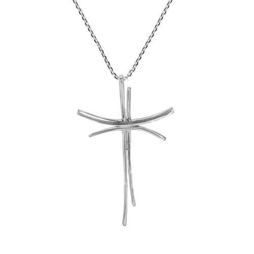 CONJOINED CROSS SILVER PENDANT - SILBERUH
