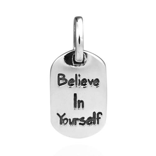 BELIEVE IN YOURSELF SILVER PENDANT - SILBERUH