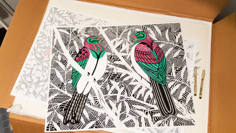 Kereru Giclee Ltd edition prints