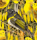 Hihi (Stitchbird) and Yellowhammers Original