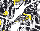 Hihi (Stitchbirds) in Kowhai Original