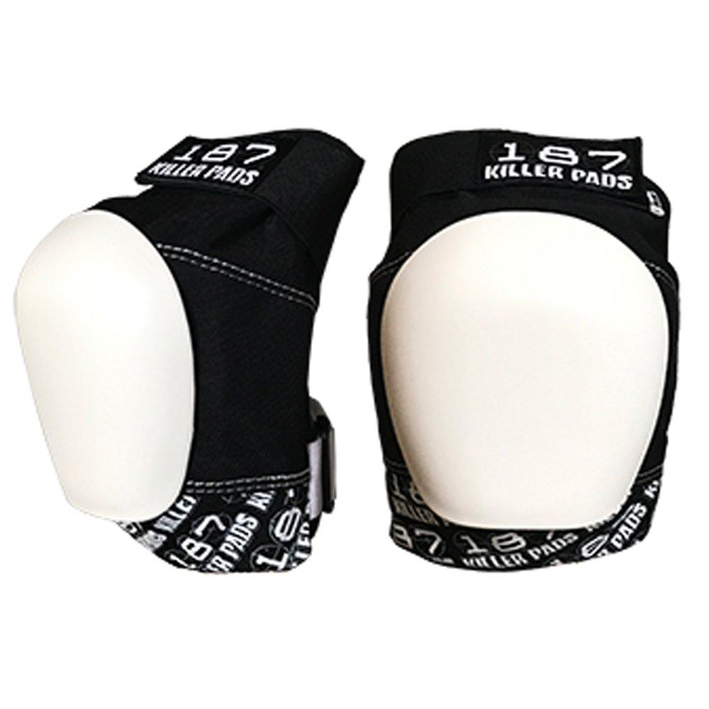 187 Pro Knee Pads Black with White Cap