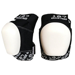 187 - Pro Knee Pads - Black with White Cap