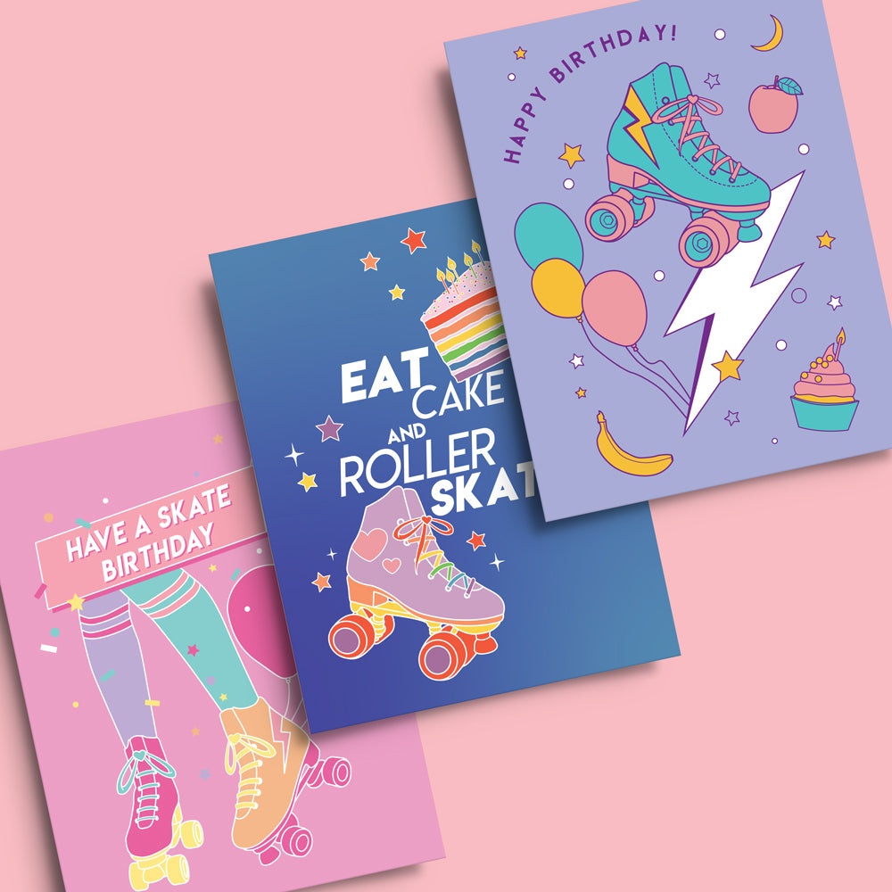 RollerFit - Birthday Greeting Cards (3 Pack)