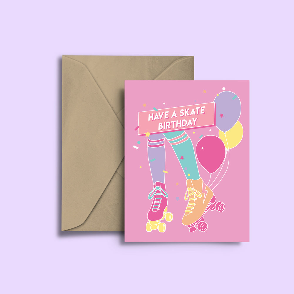 RollerFit - Have A Skate Birthday Greeting Card
