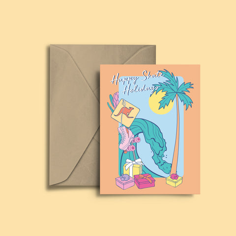Happy Skate Holidays Greeting Card