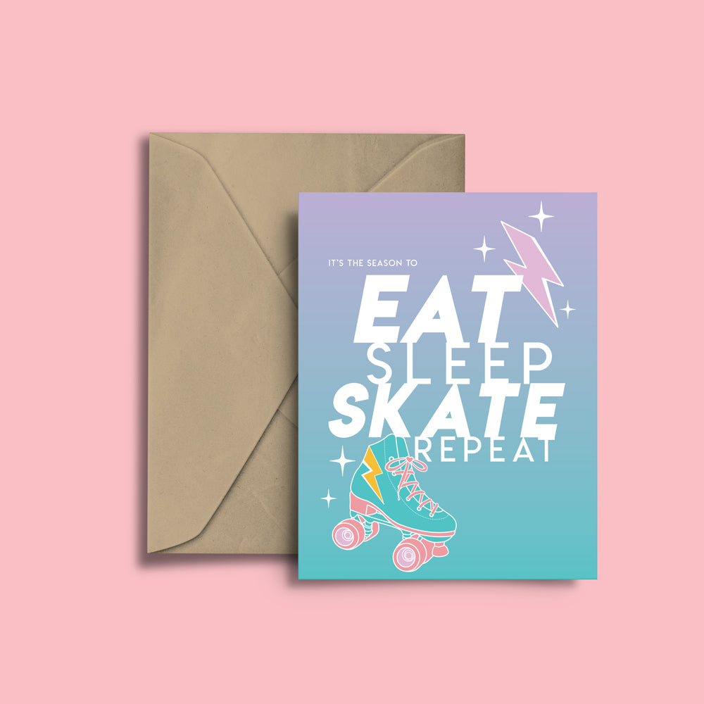 RollerFit - Eat Skate Sleep Repeat Greeting Card