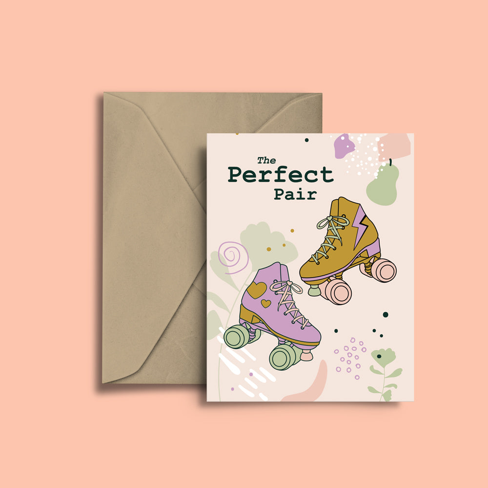 RollerFit - The Perfect Pair Greeting Card