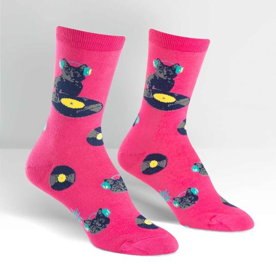 Sock It To Me Cat Scratch Womens Crew Socks