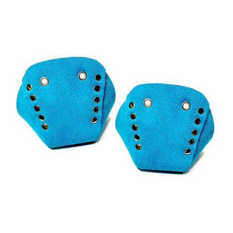 Pool Blue Suede Roller Skate Toe Caps
