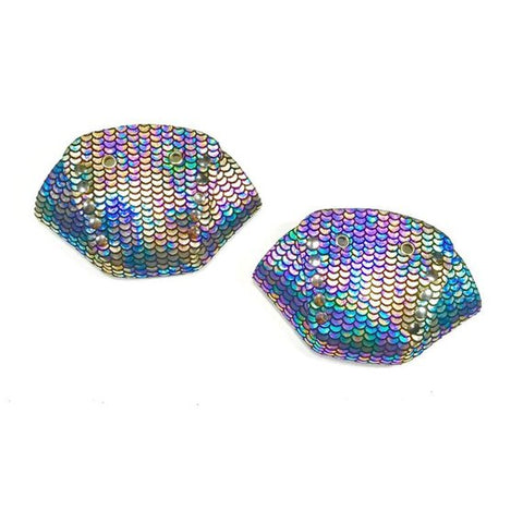 Purple/Blue Metallic Mermaid Roller Skate Toe Caps
