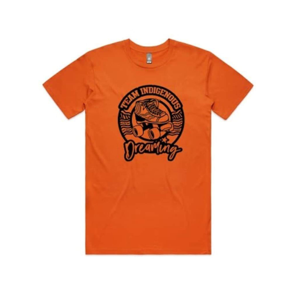 Pre-Order Team Indigenous Dreaming - Roller Derby Tee - Orange
