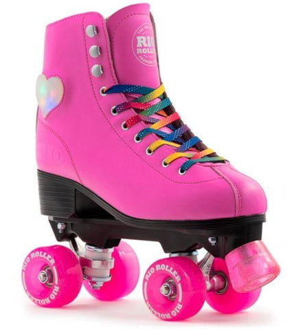 Rio Roller Figure Lights Pink Quad Skates