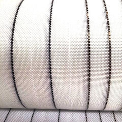 Custom Cloth Range - Basalt Middle Stripes/ Black And White Innegra  Outside Stripes 4oz Cloth