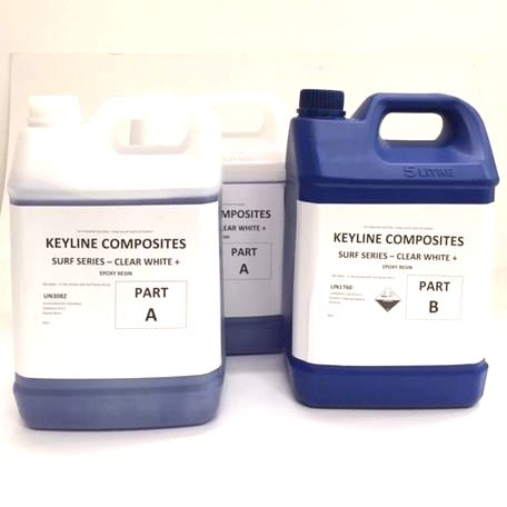Keyline Composites Surf Series Clear White Epoxy Resin 15L Kit
