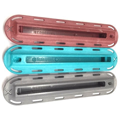 "Futures Fin Boxes - ½"" New Colours In Centre Box Teal, Grey And Burgundy"