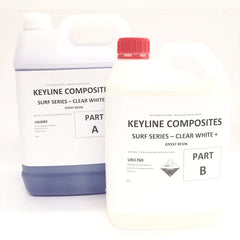 Keyline Composites Surf Series Clear White Epoxy Resin 7.5L Kit