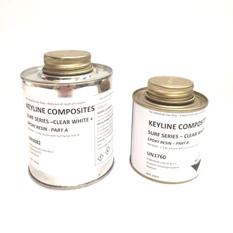 Keyline Composites Surf Series Clear White Epoxy Resin 750ml Kit