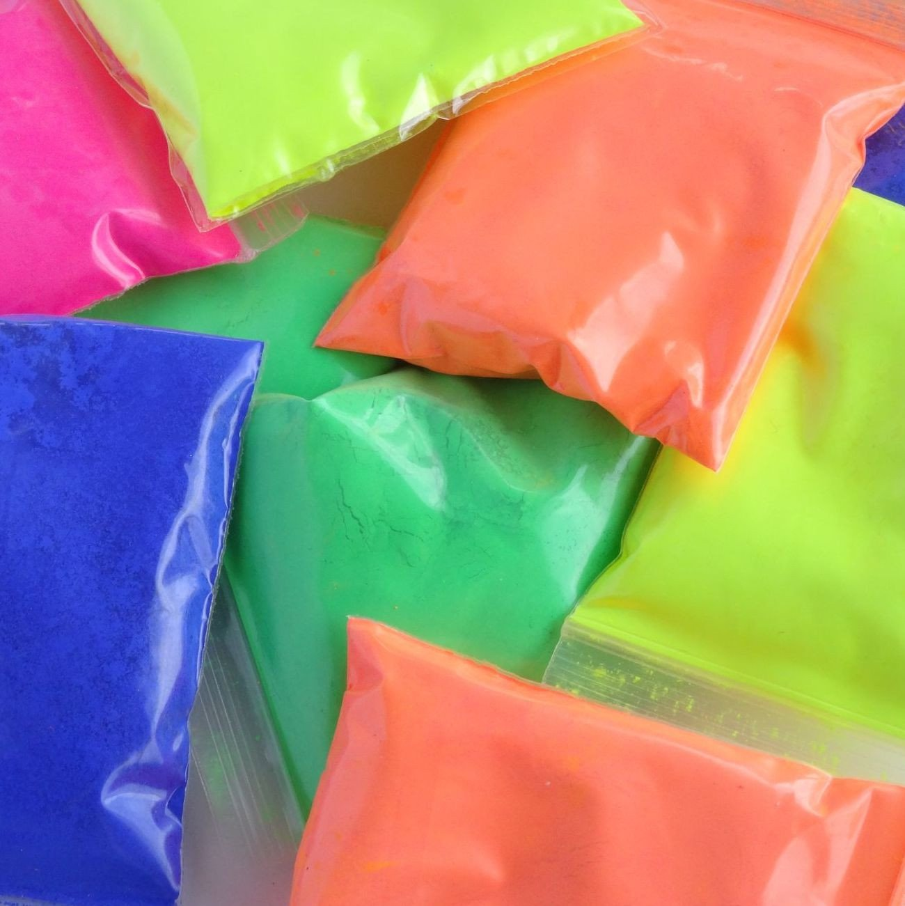 Resin Tint Neon Powder Satchels - for resin art only