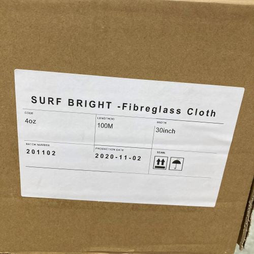 Surfbright Fibreglass Eglass Imported cloth 4oz 30 Inch Wide -30M or 100M Roll