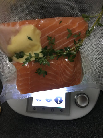 Thermomix sous vide salmon 2
