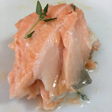 Thermomix sous vide salmon served chefanddivine thermomix recipes