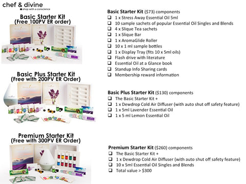How to choose Young Living member sign up starter kits