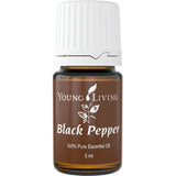 Young Living Black Pepper Essential Oil - the oil to flatten tummy and help curb smoking - Chef and Divine