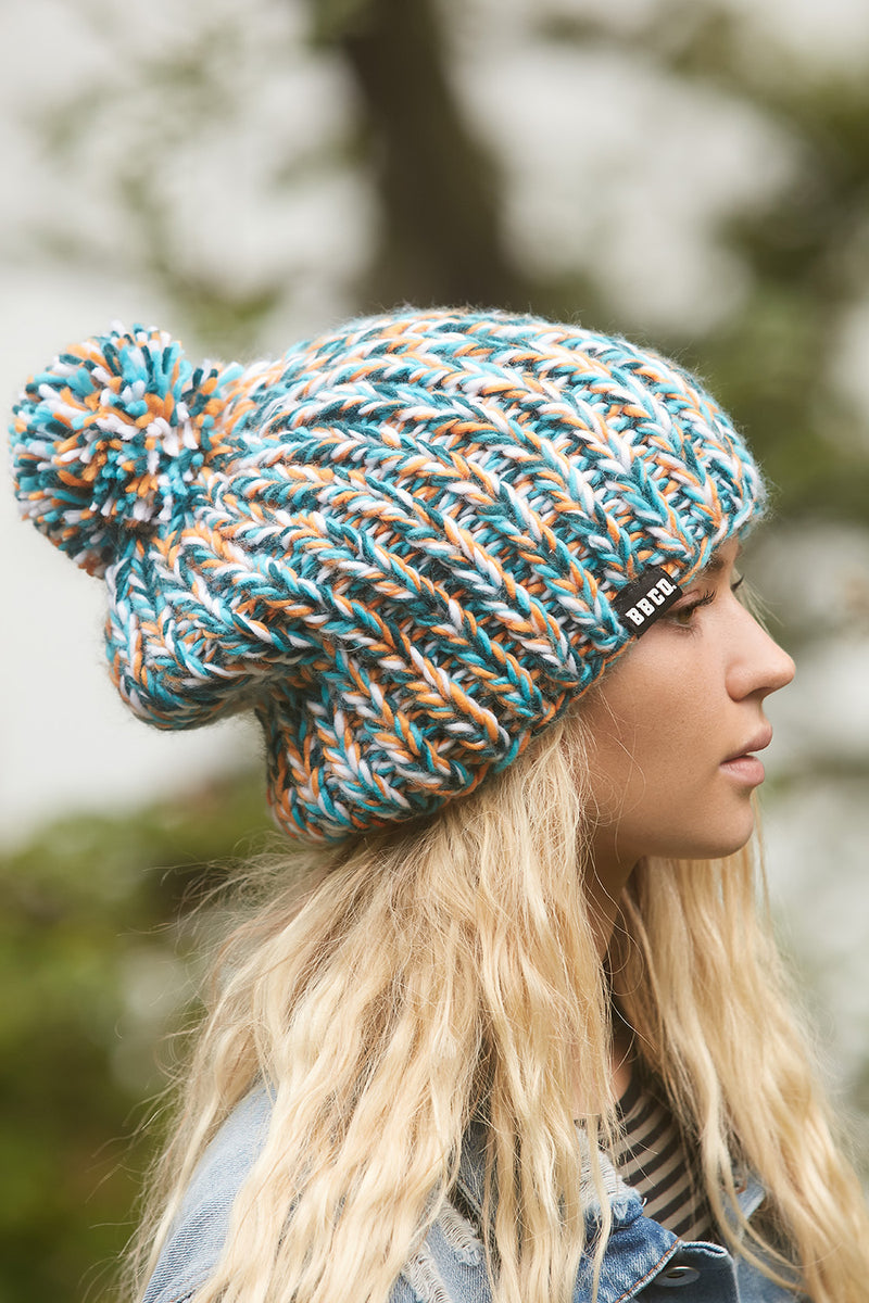 BLUE GREEN BEANIE - Beanie Hats