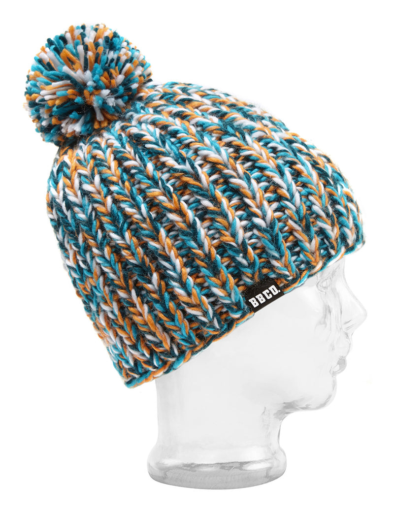 Green White Blue Beanie Hat