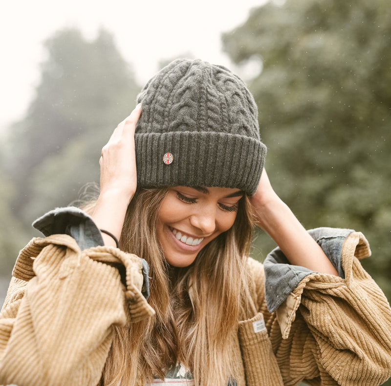 Olive Cabin beanie hat