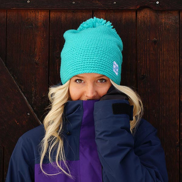 Aqua Quandary Beanie Hat - Big Balls Collective - 4