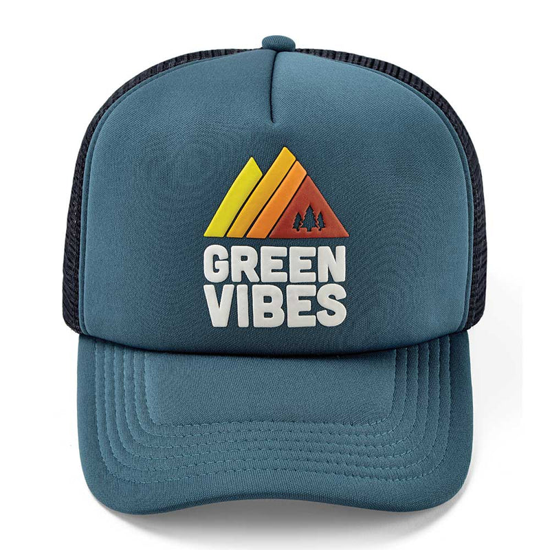 Green Vibes Trucker Cap - Retro