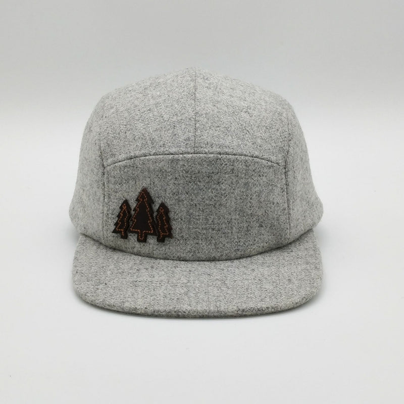 Tweed Wool Cap - Marle - 5 Panel Caps