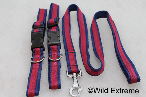 Blue Red Blue Household Cavalry Dog Collar