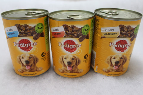 Pedigree complete wet food for dogs 385g tin