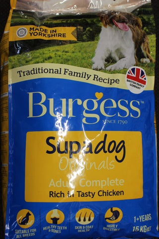 Burgess Supadog Originals Chicken 15Kg