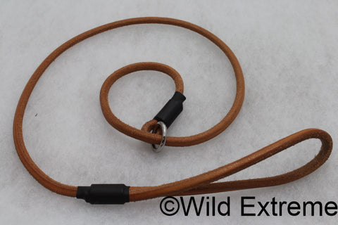 Round Leather Slip Dog Lead