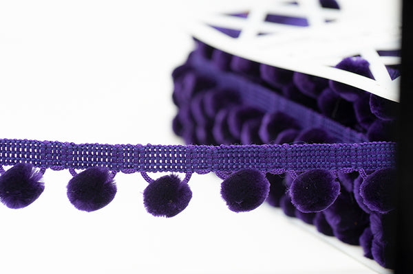 Pom Pom Trim - Purple