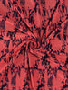 Coral Pink/Navy Abstract Jacquard - Fabworks Online