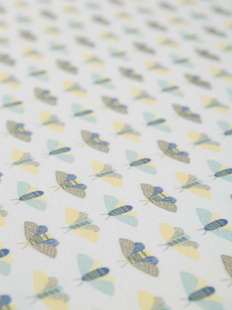 Moth Whispers - Organic Cotton Interlock - Fabworks Online