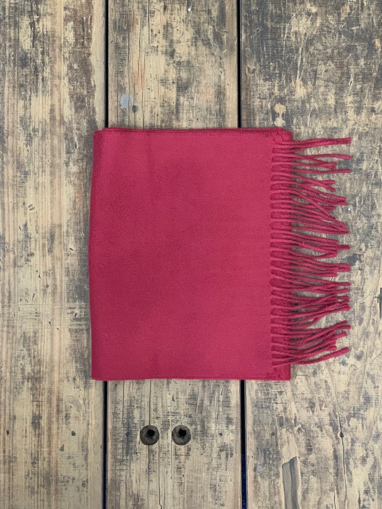 Perfect Christmas Cranberry Cashmere Scarf (Made in Yorkshire)