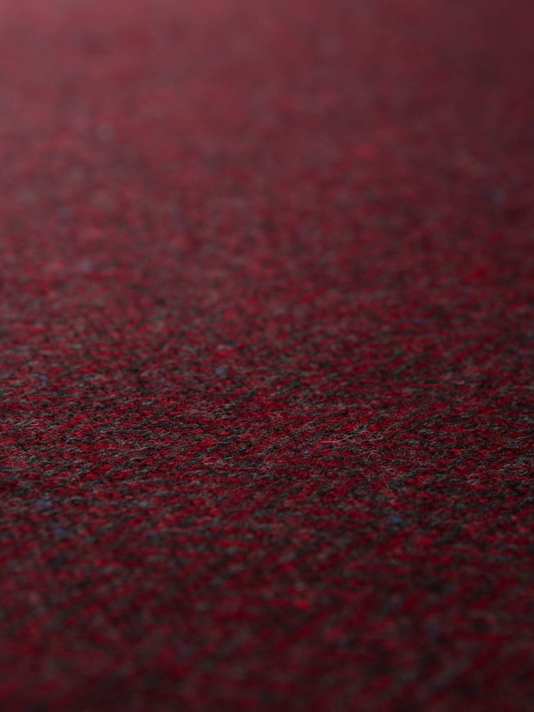 Winter Berries - Herringbone Donegal Tweed