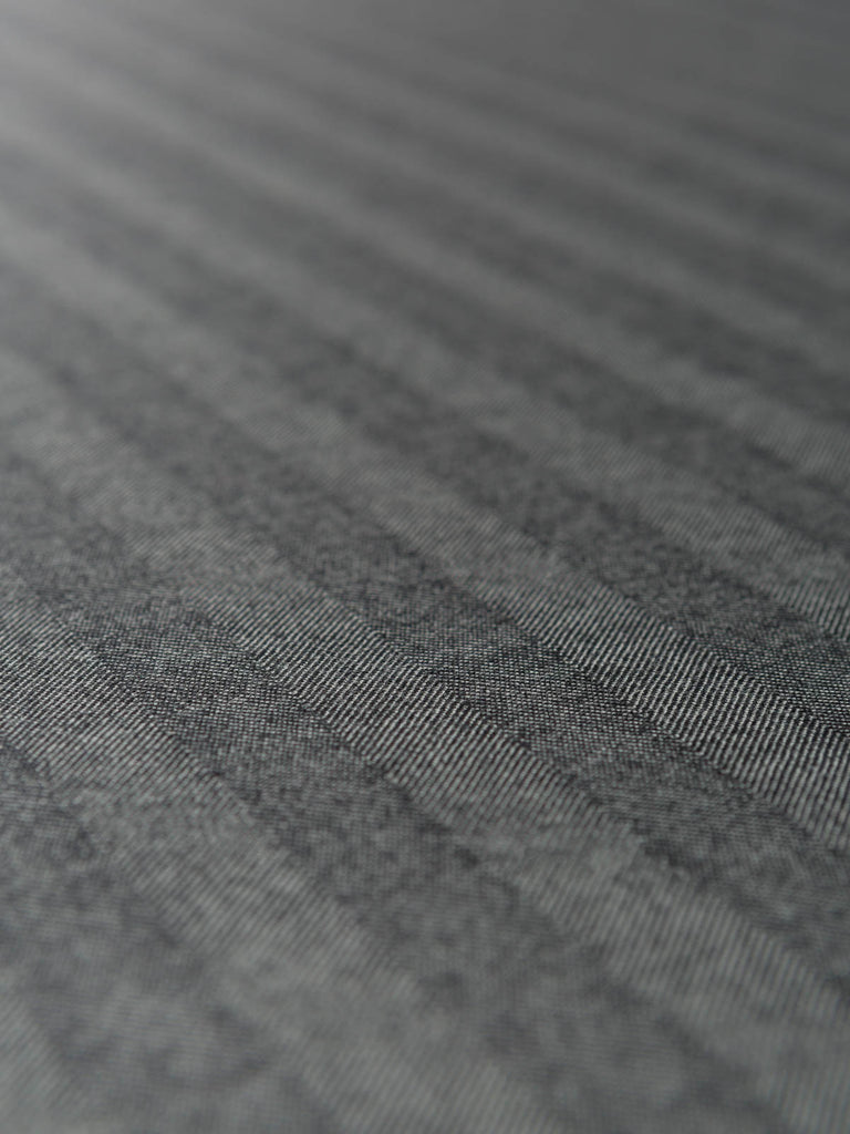 Subtle Stripes Fine Herringbone - Shadow Grey - Fabworks Online