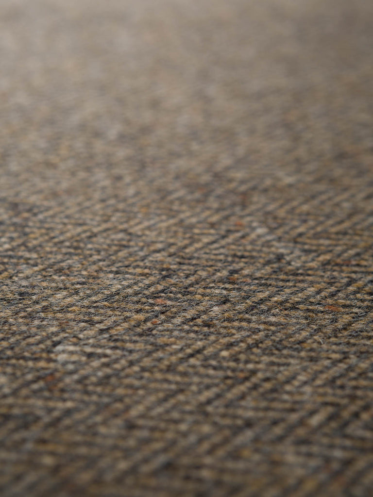 Bracken - Herringbone Donegal Tweed - Fabworks Online