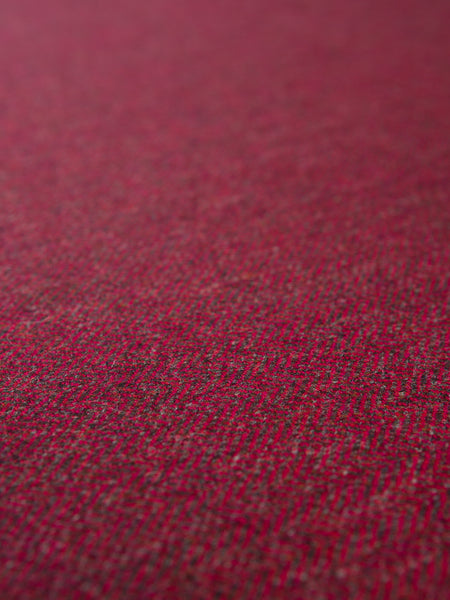 Lingonberry Herringbone - Yorkshire Tweed
