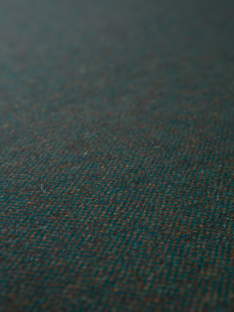 Mallard Meander Diamond Weave - Yorkshire Tweed